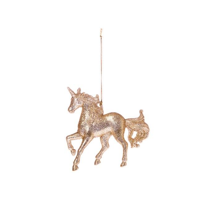 香檳金蔥獨角馬吊飾