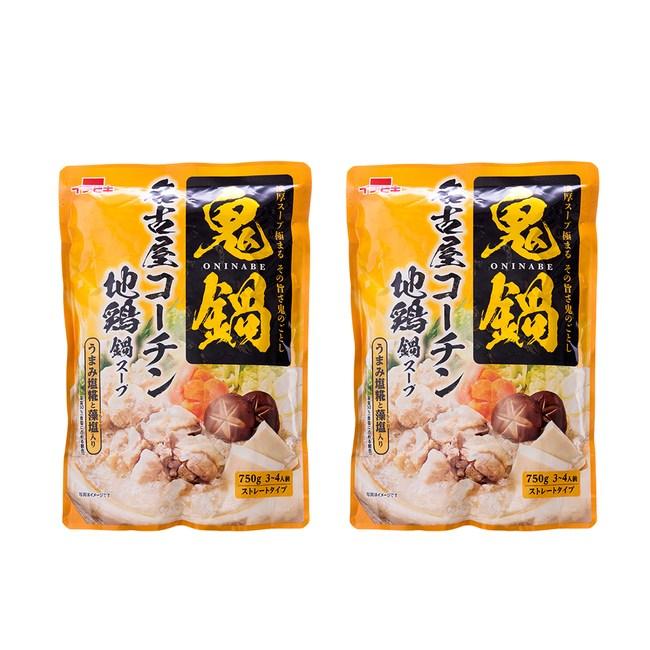 (組)日本一引火鍋高湯底[地雞風味]750g(3~4人) 2入組