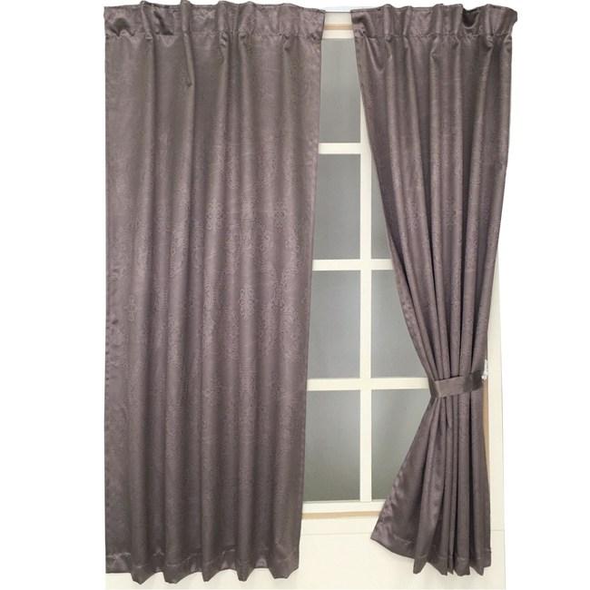 宮廷花壓紋遮光窗簾 寬290X高240cm 紫