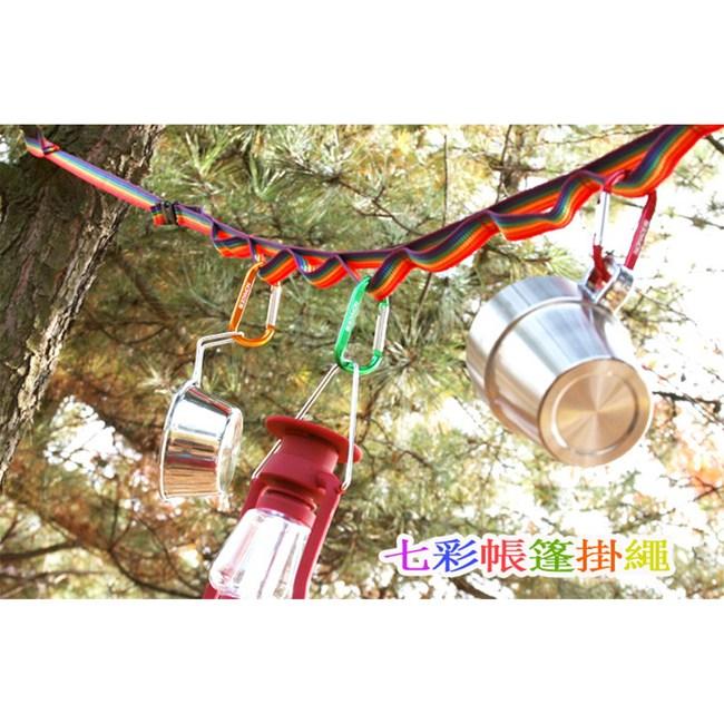 【韓國 Selpa】彩色晾衣繩-附20個夾子X2 + 七彩帳篷掛繩X2