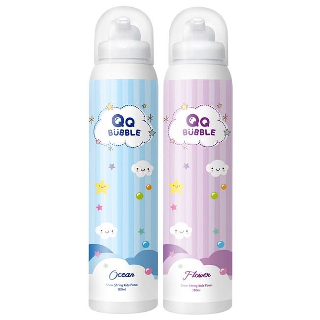 QQ Bubble神奇魔法沐浴泡泡慕斯(2入)海洋泡泡藍+花香泡泡紫