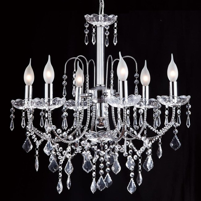 HONEY COMB 客廳水晶吊燈六燈銀色款 BL90362