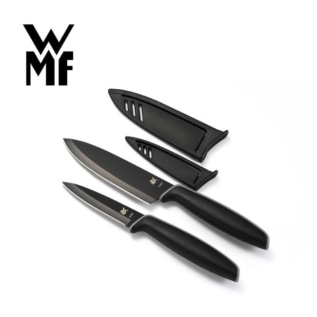 【德國WMF】Touch不鏽鋼雙刀組附刀套 9cm/13cm