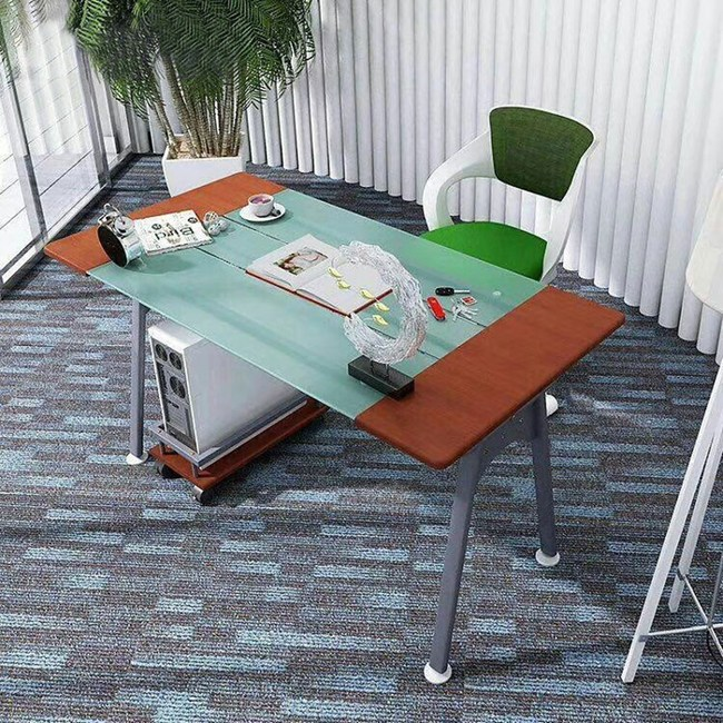 IHouse-DIY 刻瑞斯 熱銷電腦置物架玻璃電書桌/工作桌