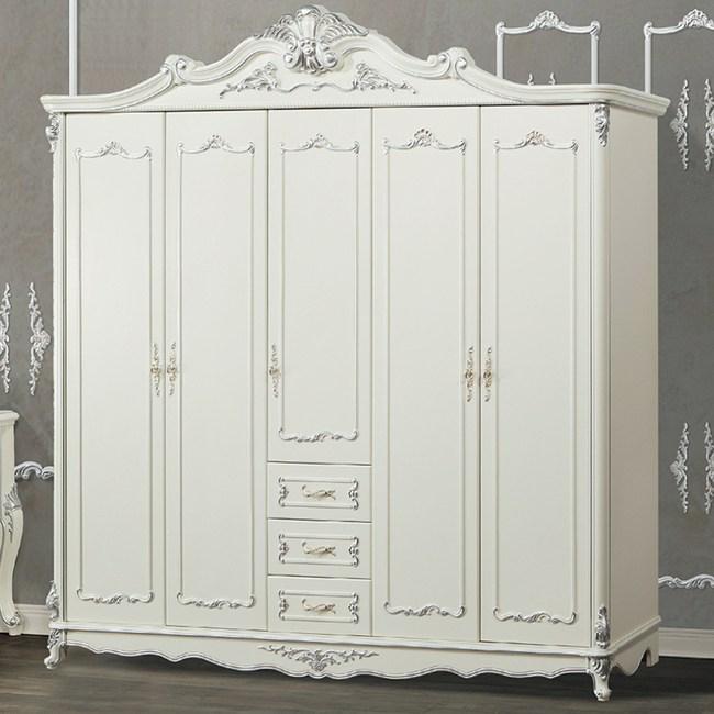 【YFS】範倫汀娜白銀五門衣櫥-220x63x239cm