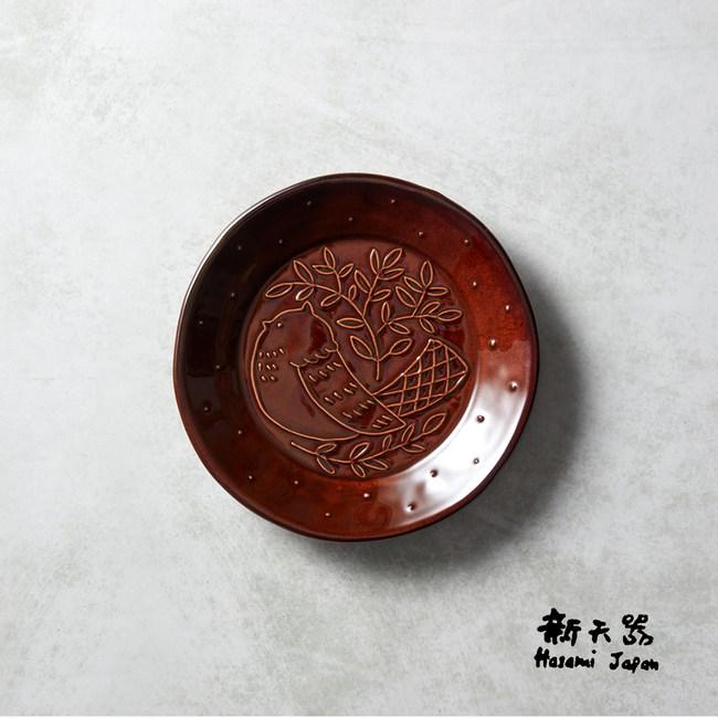 【石丸】波佐見燒 - 森之歌圓鳥盤 - 樹咖