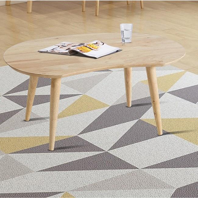 實木簡約自然膝上桌小茶几74x48x40cm 原木色