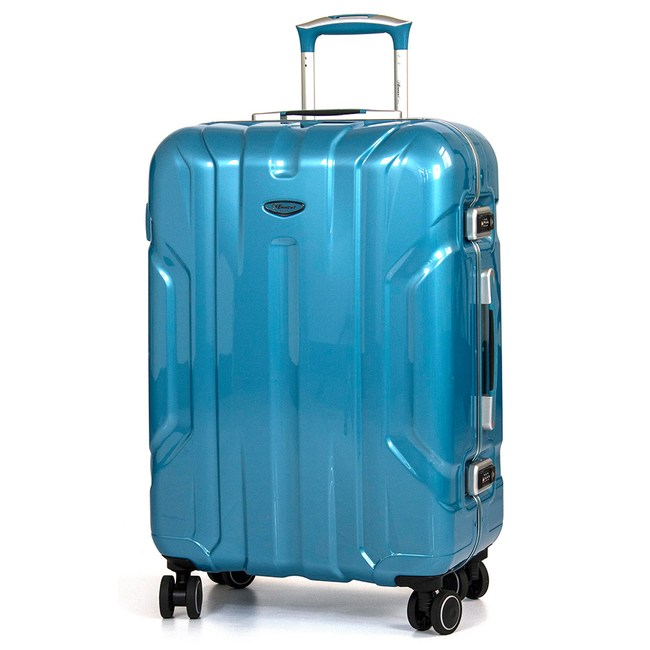eminent 雅仕 - 鋼鐵亮面風格鋁框PC行李箱28吋銀湖綠