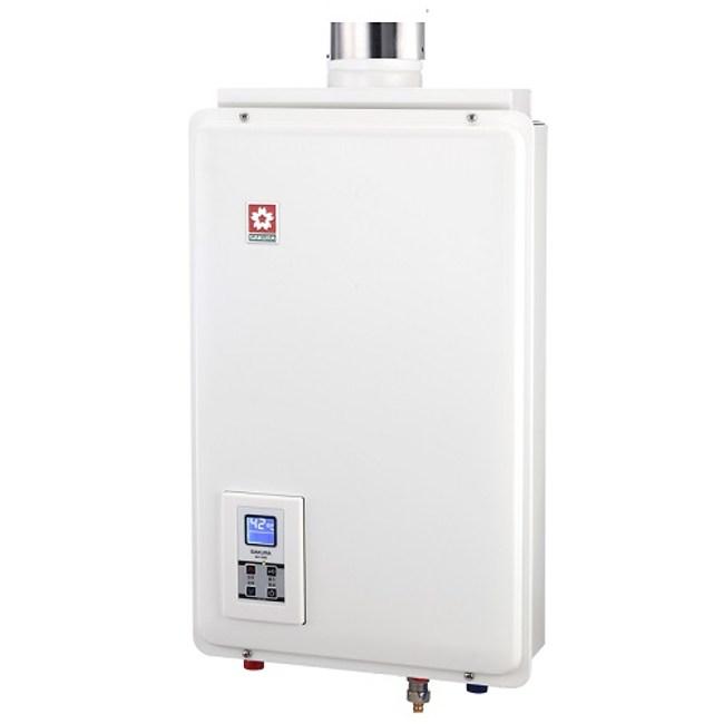 櫻花16公升強制排氣(SH1680)熱水器數位式SH-1680