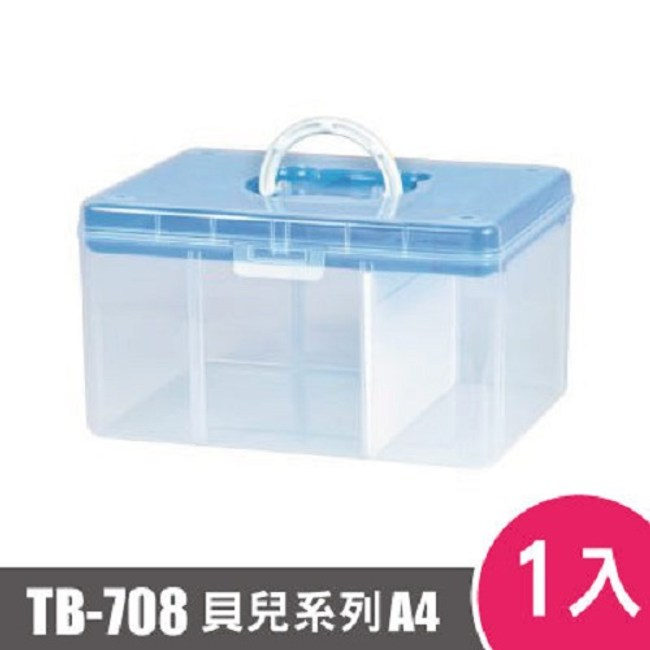 樹德SHUTER FUN貝兒手提箱(A4)TB-708 1入 藍