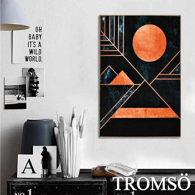 TROMSO北歐風尚板畫有框畫-三角金月40X60CM