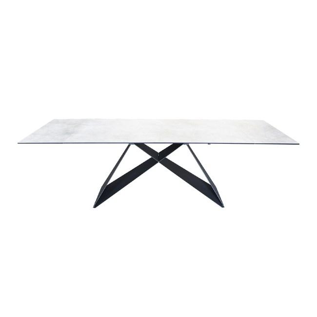 德國優客Hilker-現代風鋼化陶瓷伸縮餐桌160-240cmW160-240xD90xH