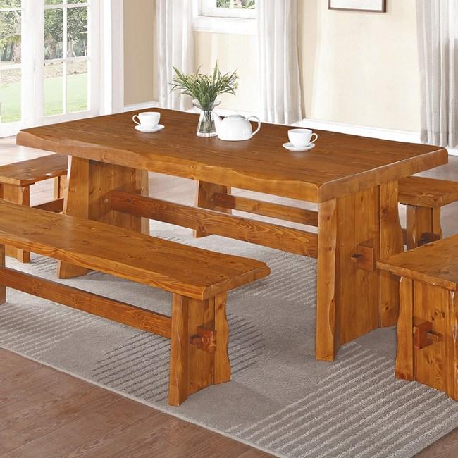 【YFS】艾布全實木6尺餐桌-180x90x75cm