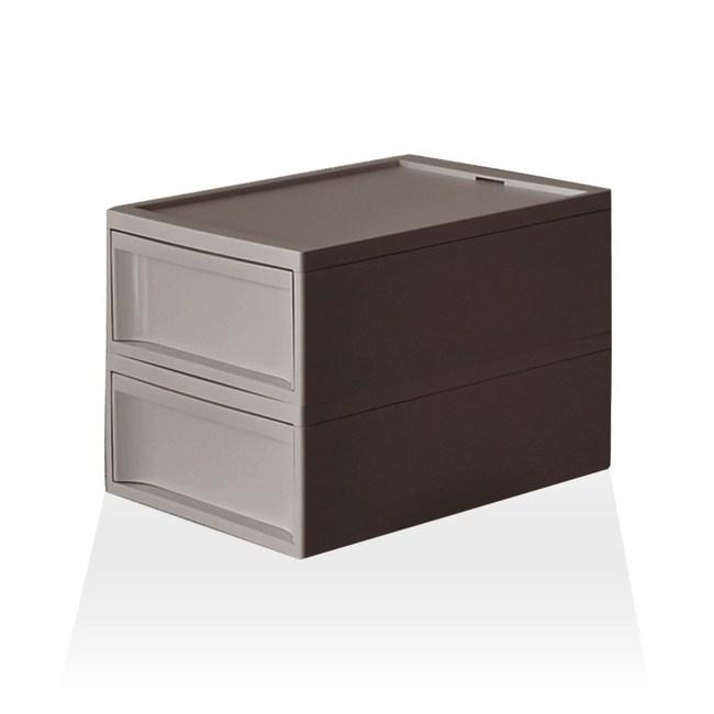 【RISU】北歐風堆疊抽屜櫃組 M -棕色