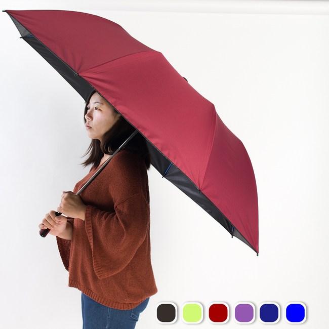 樂嫚妮 雙龍TDN 大王傘 超撥水降溫晴雨傘 良品紅大王傘-良品紅
