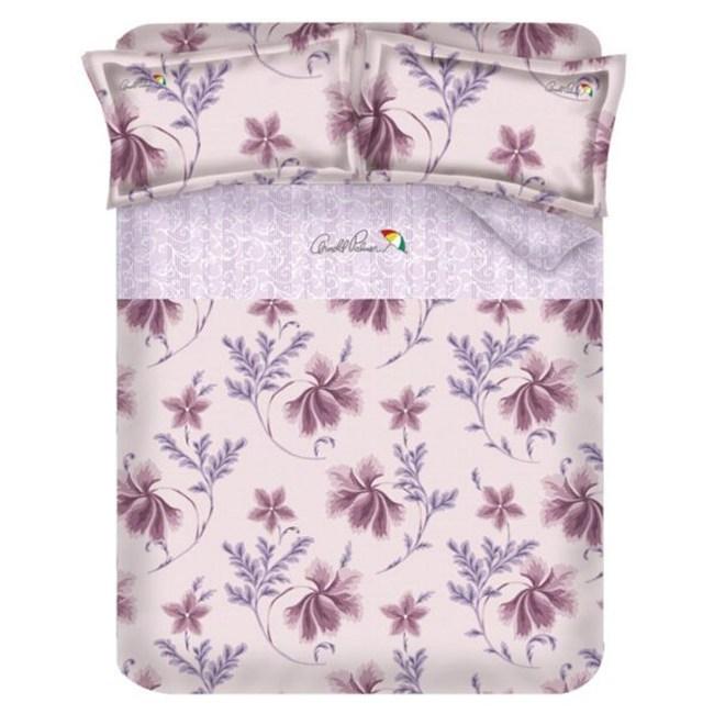Arnold Palmer雨傘牌 陶醉粉紫-精梳棉床包雙人加大四件組