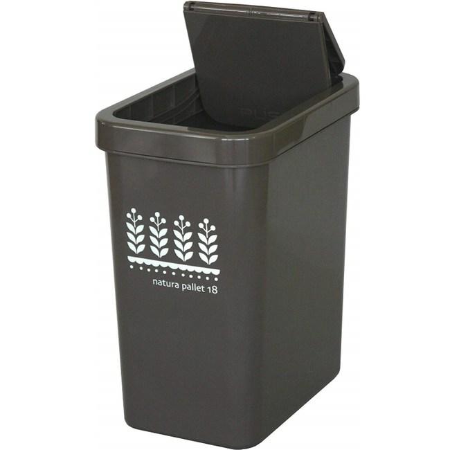 【this-this】滑蓋式垃圾桶18L-可可棕色