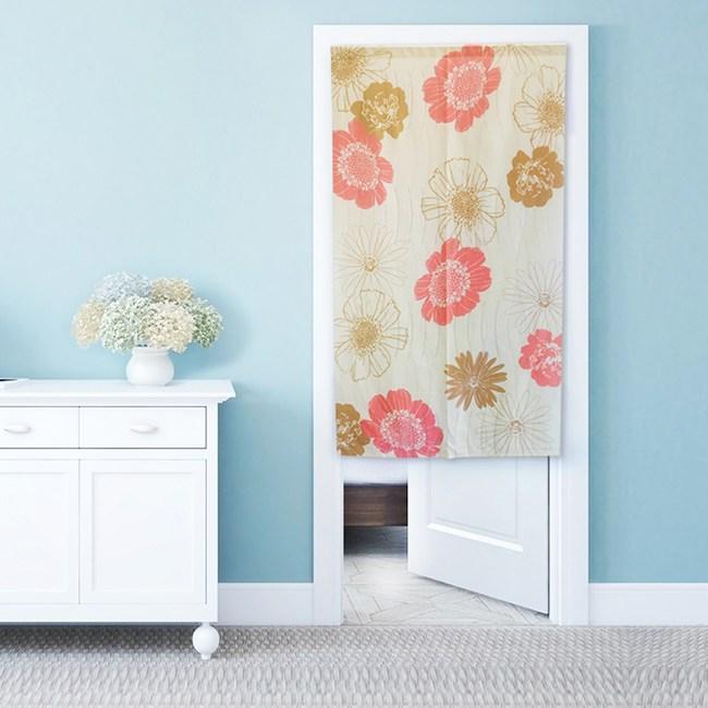 【三房兩廳】日式門簾-綻放的花朵-85×150cm