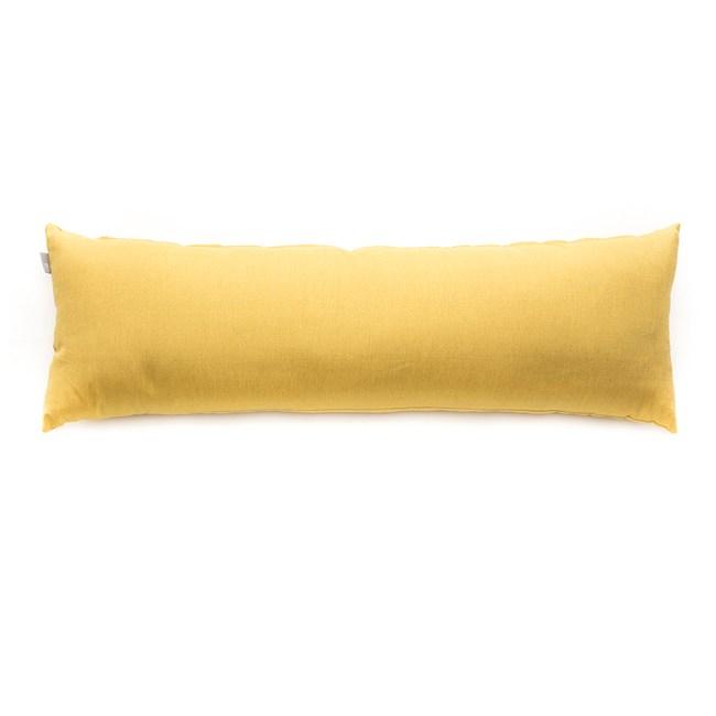 HOLA 新素色織紋長抱枕40x120cm 芥黃色