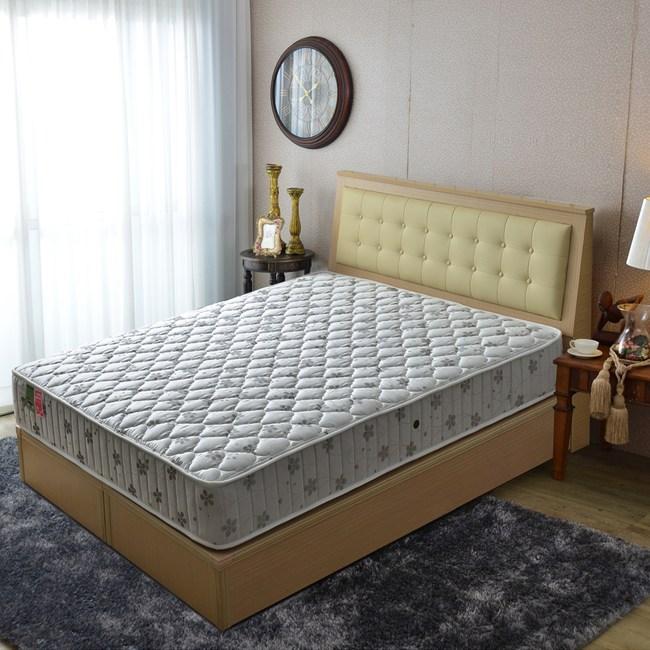 【睡芝寶】乳膠-竹碳抗菌除臭防潑水-蜂巢獨立筒床墊單人3.5尺