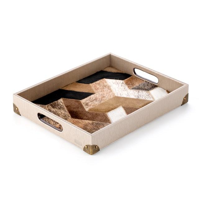 【Finara 費納拉】獨家設計款-巴黎-天然牛皮托盤(玫瑰金雅頓)