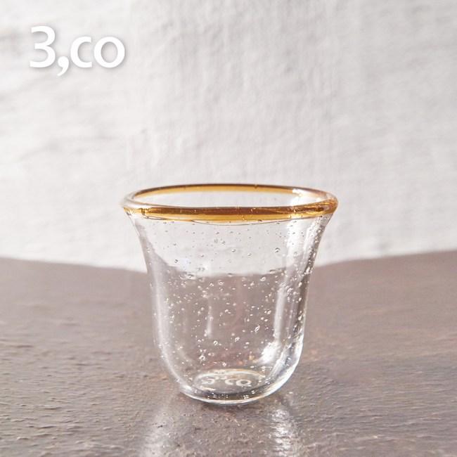 【3,co】手工氣泡感玻璃杯(小) - 茶邊