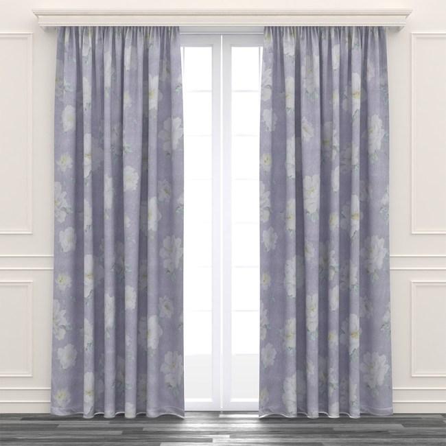 荷蘭絨印花遮光窗簾 寬290x高210cm 紫色