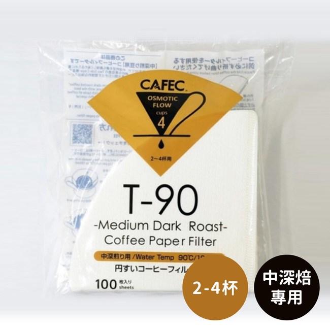 日本CAFEC 中深焙專用濾紙200張-2-4杯(2入組)