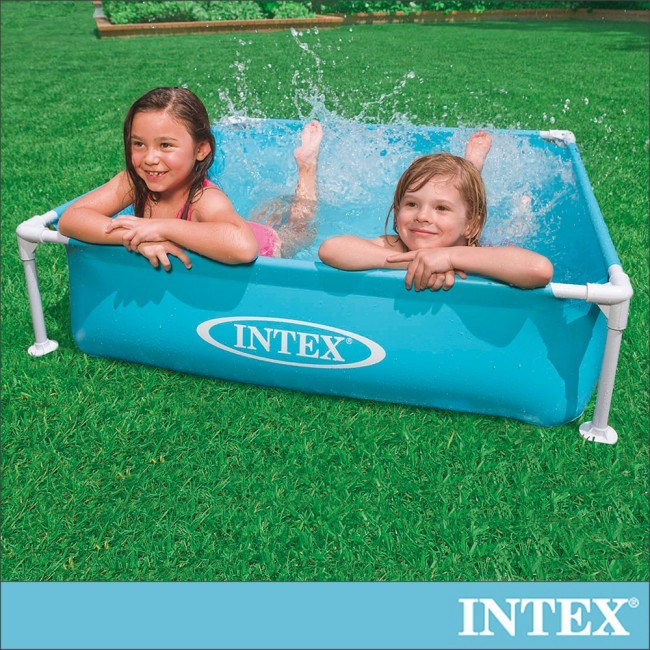 INTEX 方型四柱游泳池122x122cm(337L)(57173)