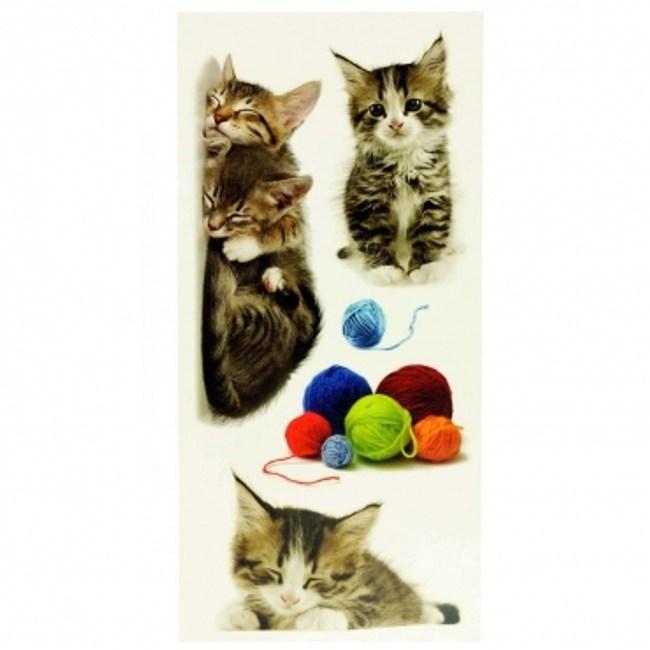 義大利HOME DÉCOR壁貼Sx2-可愛貓C59452