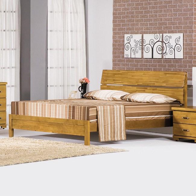 【YFS】艾文香檜全實木5尺雙人床架-150x202x102cm