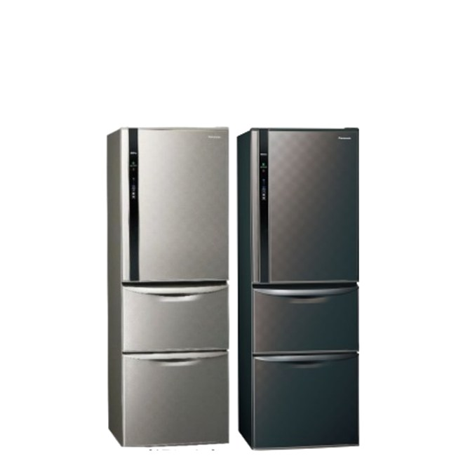 國際牌385公升三門變頻冰箱絲紋灰NR-C389HV-L絲紋灰