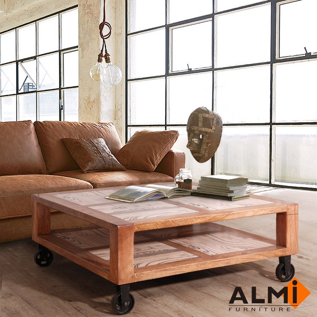 【ALMI】VINTAGE-TABLE WITH WHEELS 附輪咖啡桌