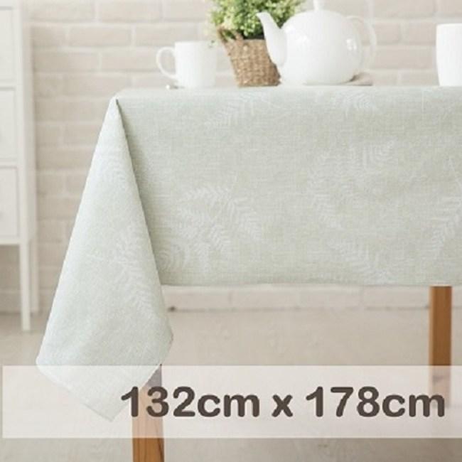 CasaBella美麗家居 防水桌巾 湖水綠蕨葉 132x178cm