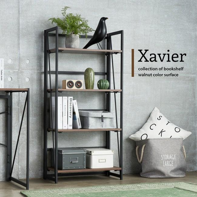 【obis】Xavier賽維爾工業風可折疊書架