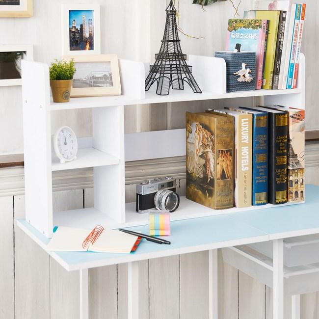 【dayneeds】亮白色素雅桌上型書架