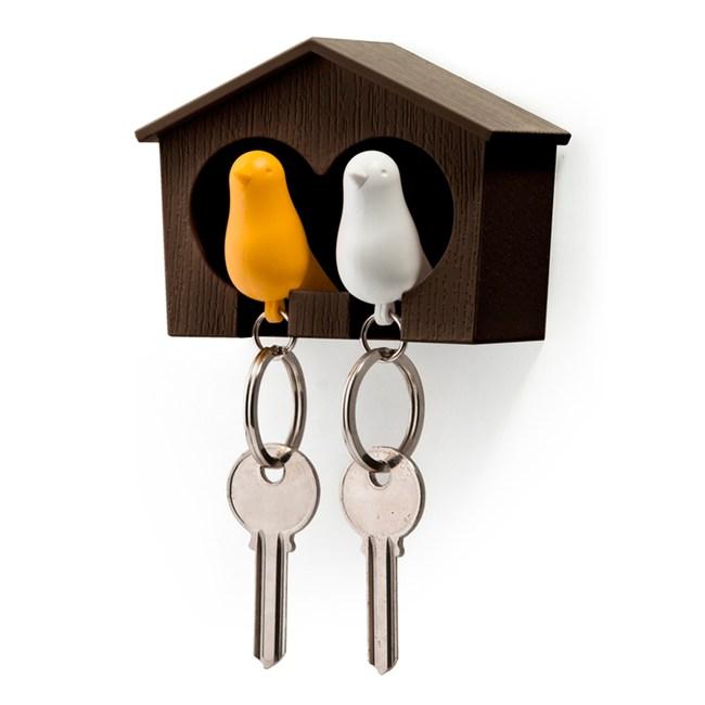 QUALY 雀兒愛巢–咖啡屋(白鳥+黃鳥)