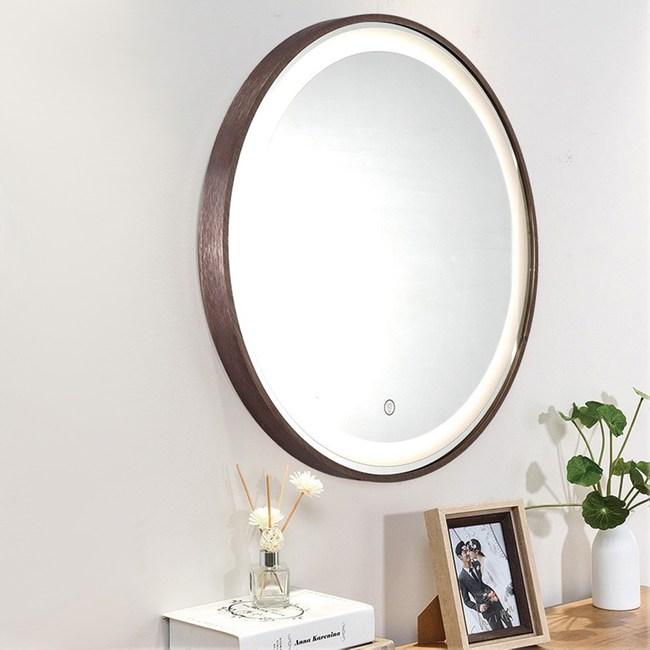 H&R安室家 60cm里昂 智能LED觸控燈鏡/浴鏡/掛鏡ZA0201珈啡色