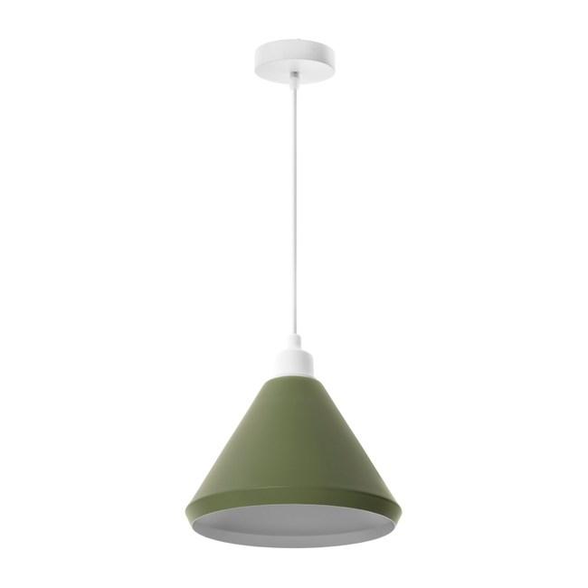 (組)特力屋萊特白吊燈綠鐵燈罩