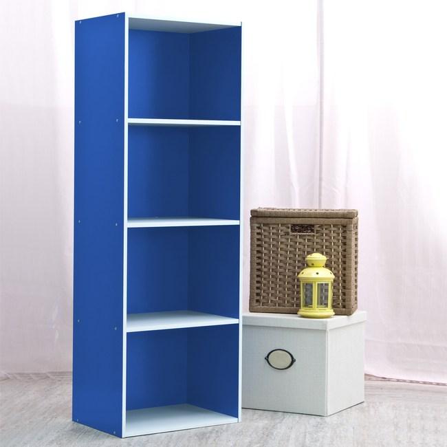 智慧生活四格櫃-藍