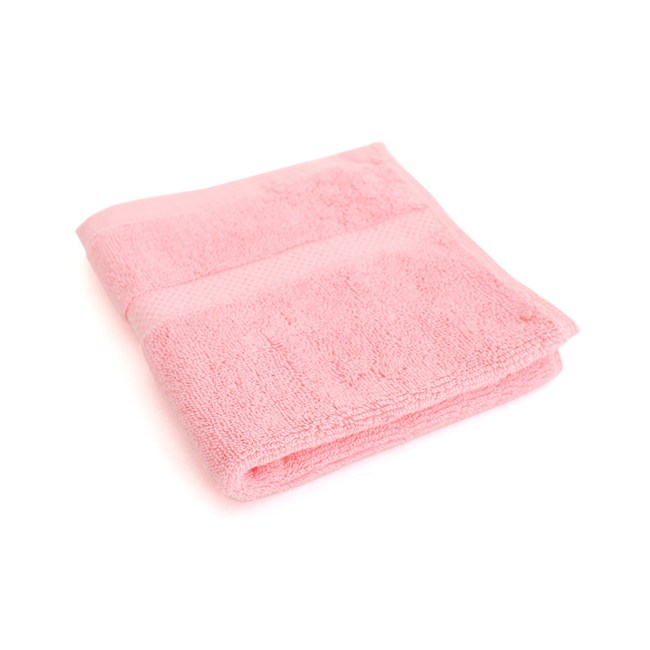 Lovel 嚴選六星級飯店素色純棉方巾(玫粉)