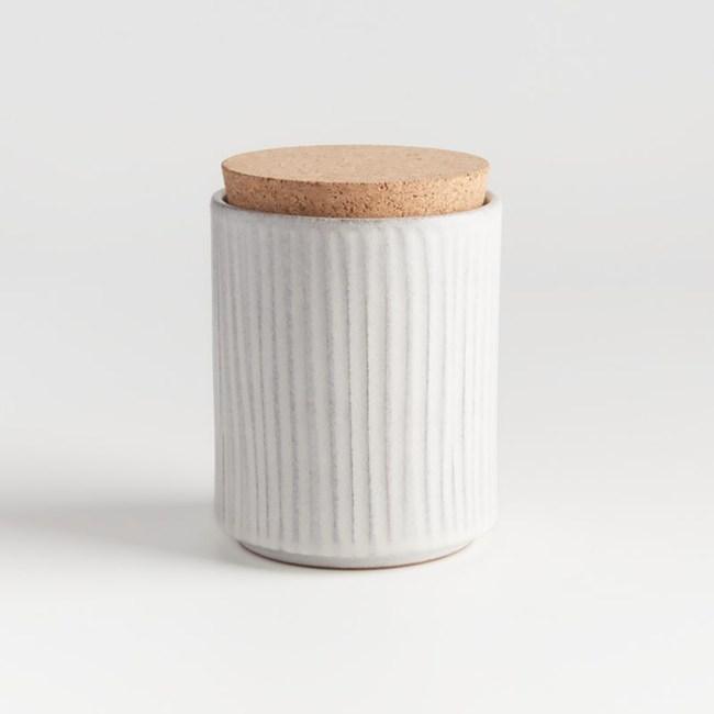 Crate&Barrel Lilou 儲物罐 (M) 白