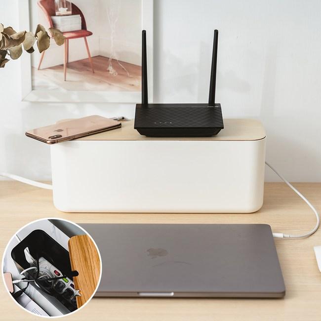 樂嫚妮 插座盒/集線盒子/電線收納盒/線材收納/推薦-L號-(2色)白