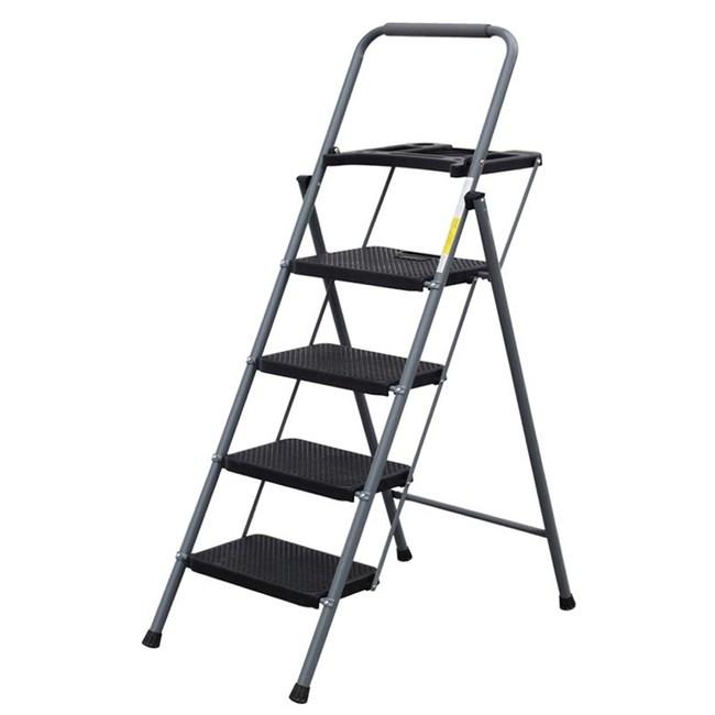 【U-Cart 優卡得】四階鐵製摺疊工具盤家用梯