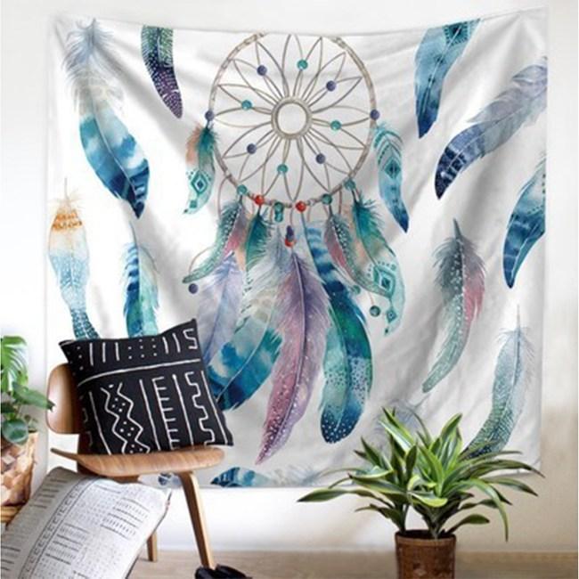 樂嫚妮 裝飾掛毯-捕夢網 ins風背景掛布掛毯-橫版捕夢網