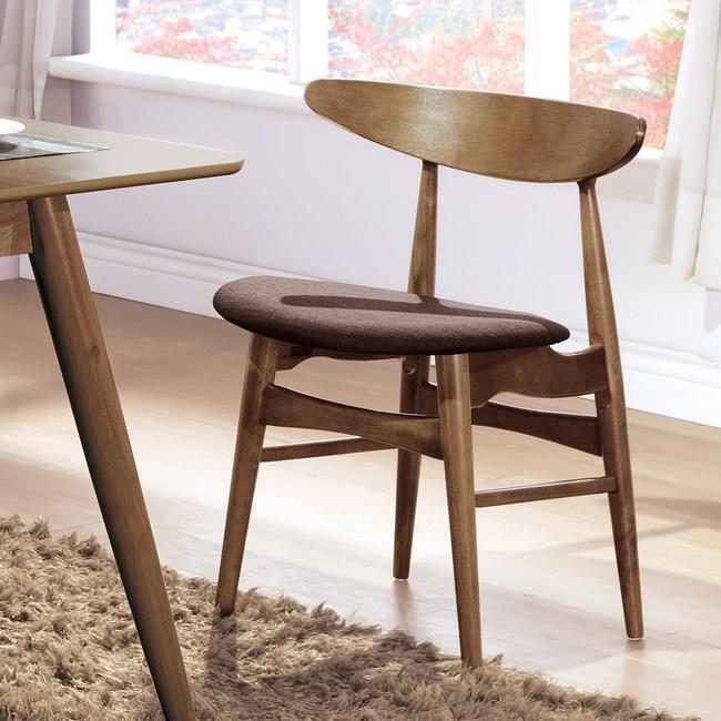 吉伯特淺胡桃咖啡布餐椅