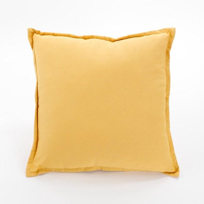 棉麻素色抱枕45x45cm 黃