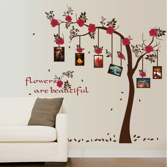【Loviisa 玫瑰花】無痕壁貼 壁紙