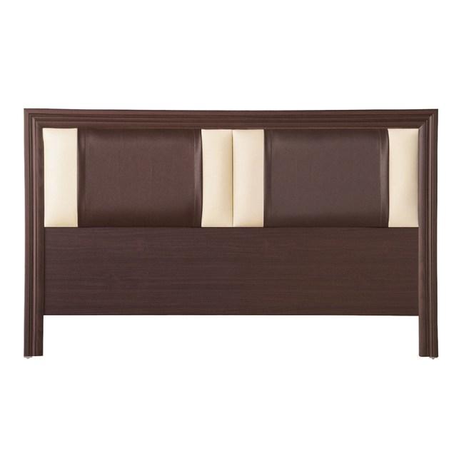 【YFS】諾頓5尺胡桃皮面床頭片-154x2x93cm