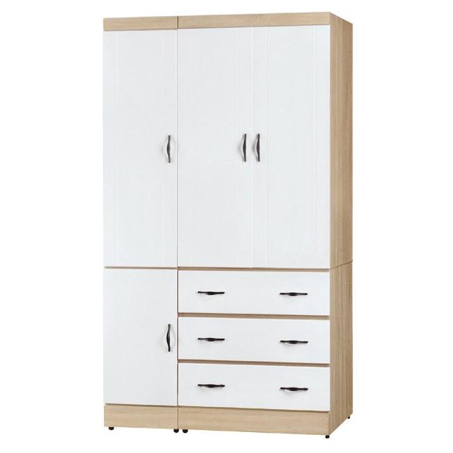 【YFS】爾德3x7衣櫃-75x57x199cm(兩色可選)白色